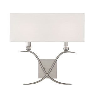 Payton Satin Nickel Two-Light Wall Sconce
