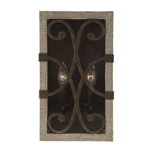 Amador Noblewood and Iron Two-Light Wall Sconce