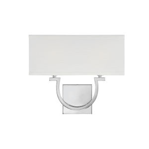 Rhodes Polished Nickel and White Two-Light Wall Sconce