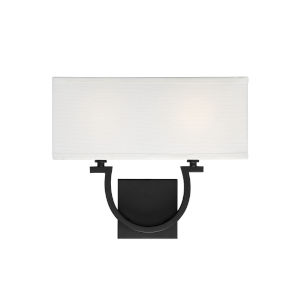 Rhodes Matte Black Two-Light Wall Sconce