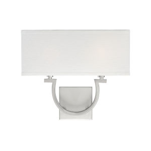 Rhodes Satin Nickel Two-Light Wall Sconce