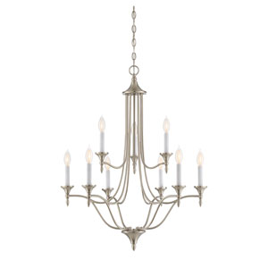 Herndon Satin Nickel Nine-Light Chandelier