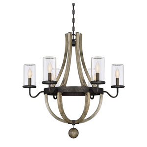 Eden Weathervane Six-Light Outdoor Chandelier
