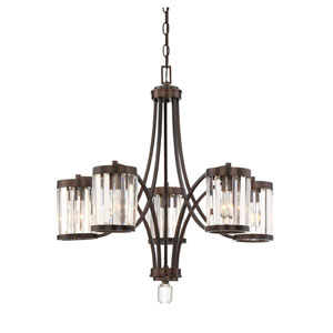 Nora Burnished Bronze Five-Light Chandelier