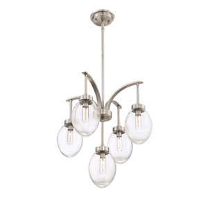 Ravenia Satin Nickel Five-Light Chandelier