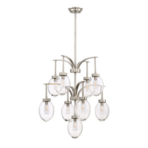 Ravenia Satin Nickel Nine-Light Chandelier