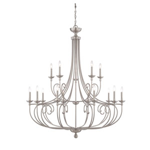Langley Satin Nickel 15-Light Chandelier