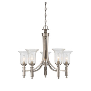 Trudy Satin Nickel Five-Light Chandelier