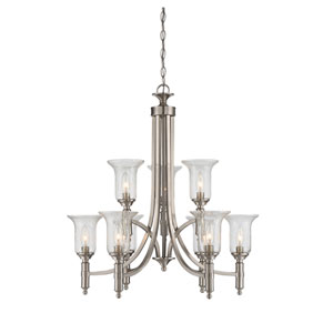 Trudy Satin Nickel Nine-Light Chandelier