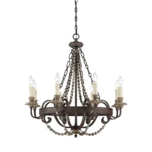 Mallory Bronze Eight-Light Chandelier