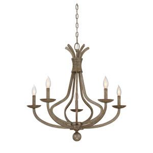 Rosette Chateau Linen Five-Light Chandelier