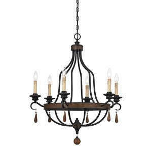 Kelsey Bronze Six-Light 28.5-Inch Wide Chandelier