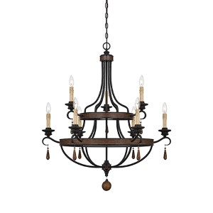 Kelsey Bronze Nine-Light Chandelier