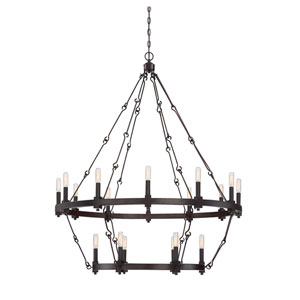Adria English Bronze 18-Light Chandelier