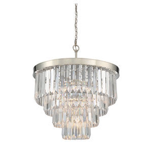 Tierney Polished Nickel Six-Light Pendant