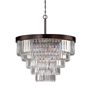 Tierney Bronze Nine-Light Chandelier