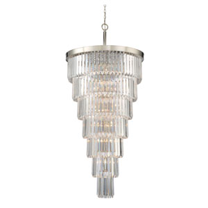 Tierney Polished Nickel 19-Light Pendant