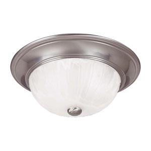 Satin Nickel Small Flush Ceiling Light