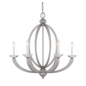 Forum Silver Sparkle Six-Light Chandelier