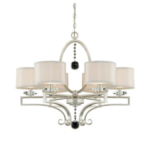 Rosendal Silver Sparkle Six-Light Chandelier