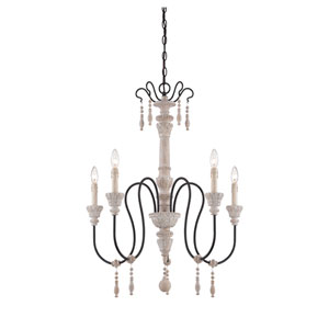 Ashland Wood Five-Light Chandelier