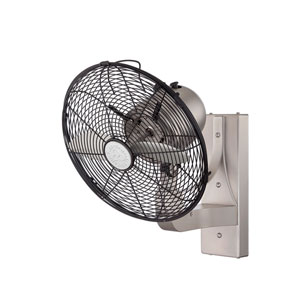 Skyy Brushed Nickel and Pewter Wall Fan