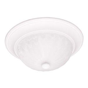 Matte White Medium Flush Ceiling Light