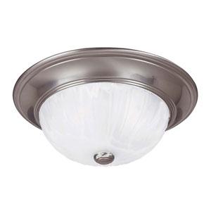 Satin Nickel Medium Flush Ceiling Light