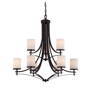 Colton Bronze Nine-Light Chandelier