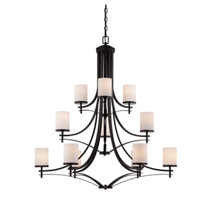 Colton Bronze 12-Light Chandelier