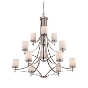 Colton Nickel and Pewter 12-Light Chandelier