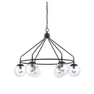 Argo Bronze Six-Light Chandelier