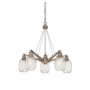 Orsay Industrial Steel Five Light Chandelier
