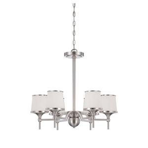 Hagen Satin Nickel Six-Light Chandelier