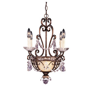Petite Crystal Center Bowl Chandelier