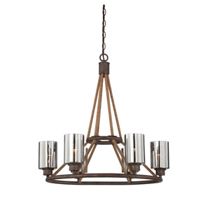 Maverick Artisan Rust Six Light Chandelier