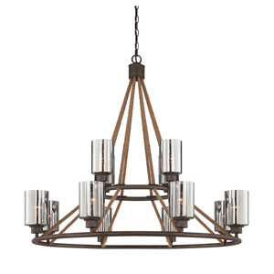 Maverick Artisan Rust 12 Light Chandelier