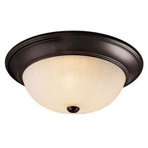 Conestoga English Bronze Three-Light Flush Mount