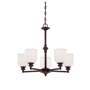 Melrose Bronze Five-Light Chandelier