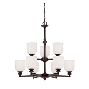 Melrose Bronze Nine-Light Chandelier