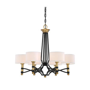 Exete Carbon 27-Inch Six-Light Chandelier