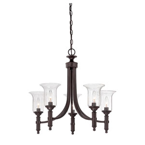 Trudy English Bronze Five Light Chandelier