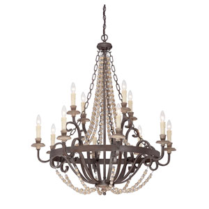 Mallory Bronze 12-Light Chandelier