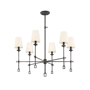 Lorai Oxidized Black 32-Inch Six-Light Chandelier