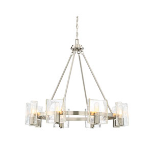 Hande Satin Nickel 33-Inch Eight-Light Chandelier