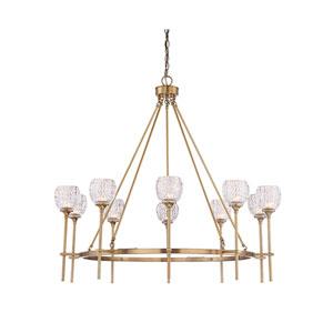 Garla Warm Brass 38-Inch Ten-Light Chandelier