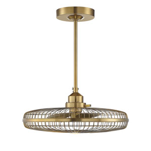 Wetherby Warm Brass One-Light Fan D-lier