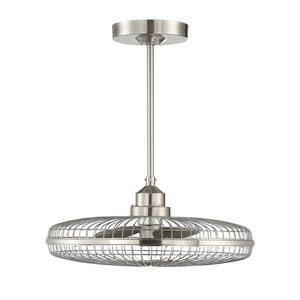Wetherby Satin Nickel One-Light Fan D-lier