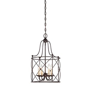 Seneca Bronze Four-Light Foyer Pendant
