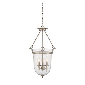 Trudy Satin Nickel Three-Light Pendant